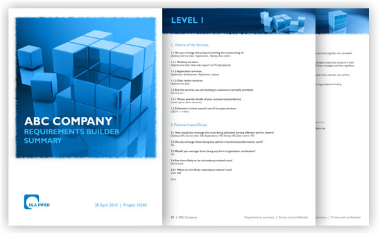 Requirements Summary document with inputs
